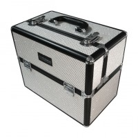 Valise façon strass blanche